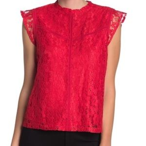 GORGEOUS red lace blouse